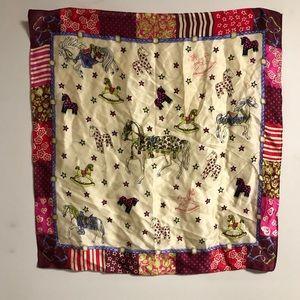 Vintage Carousel Horse Silk Scarf